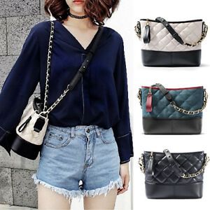 Quilted-Real-Leather-Small-Single-Shoulder-Bag-Crossbody-Bag-Hobo-Chain-Purse