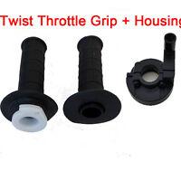 Quarter Twist Throttle Cable Housing Accelerator + Black 22mm 7/8 Hand Grips