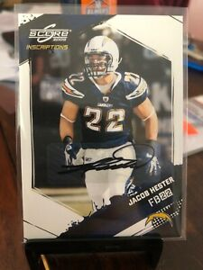 2009 Score Inscriptions Autographs Autographed #241 Jacob Hester