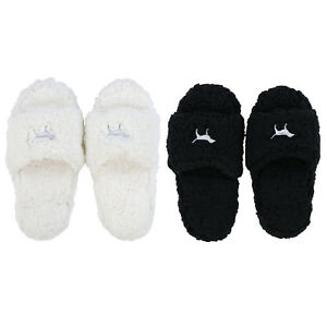 7007371f07fbf Details about Victoria's Secret Pink Slippers Sherpa Footwear House Shoe  Logo Slide On New Nwt