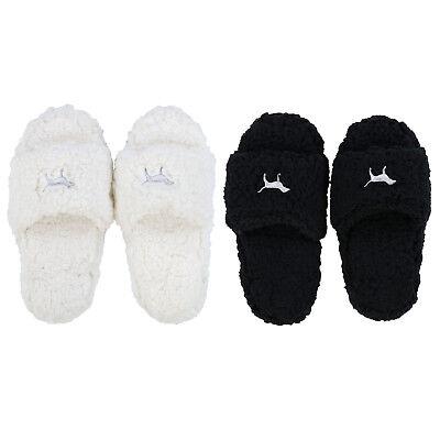 victoria secret black slippers