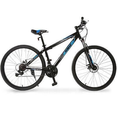 "27.5"" Mountain Bike Hybrid Bike 21 Speeds & Full Suspension & Shimano Blue"