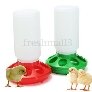 1L-Thick-Robust-Chicken-Chick-Hen-Duck-Quail-Poultry-Plastic-Food-Feeder-2-Color