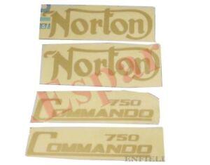 Norton-Commando-750-Essence-Reservoir-de-carburant-et-panneau-lateral-Sticker-De