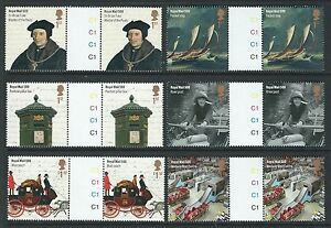 GREAT-BRITAIN-2016-ROYAL-MAIL-500-GUTTER-PAIR-SET-OF-6-UNMOUNTED-MINT