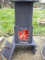 Portable Wood Burning Stove Patio Garden Camp Mini Fire Van Night Heater Cooker