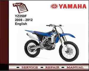 yamaha yz250f yz250 f 2008 2012 workshop service repair manual ebay rh ebay co uk manuel atelier yamaha yzf 250 yamaha yzf 250 manual 2007