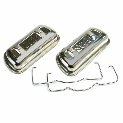 Vw Engine 1600cc-2275cc Pair Scat 80240T Stainless Steel Clip On Valve Covers