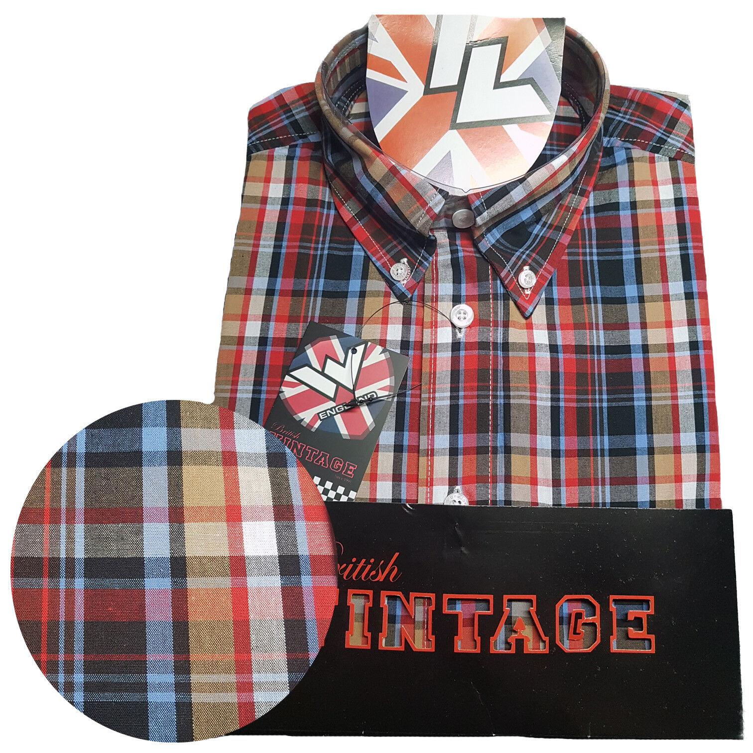 Warrior UK England Button Down Shirt IDOL Hemd Slim-Fit Skinhead Mod   | Verschiedene Stile  | Hohe Sicherheit  | Online Shop