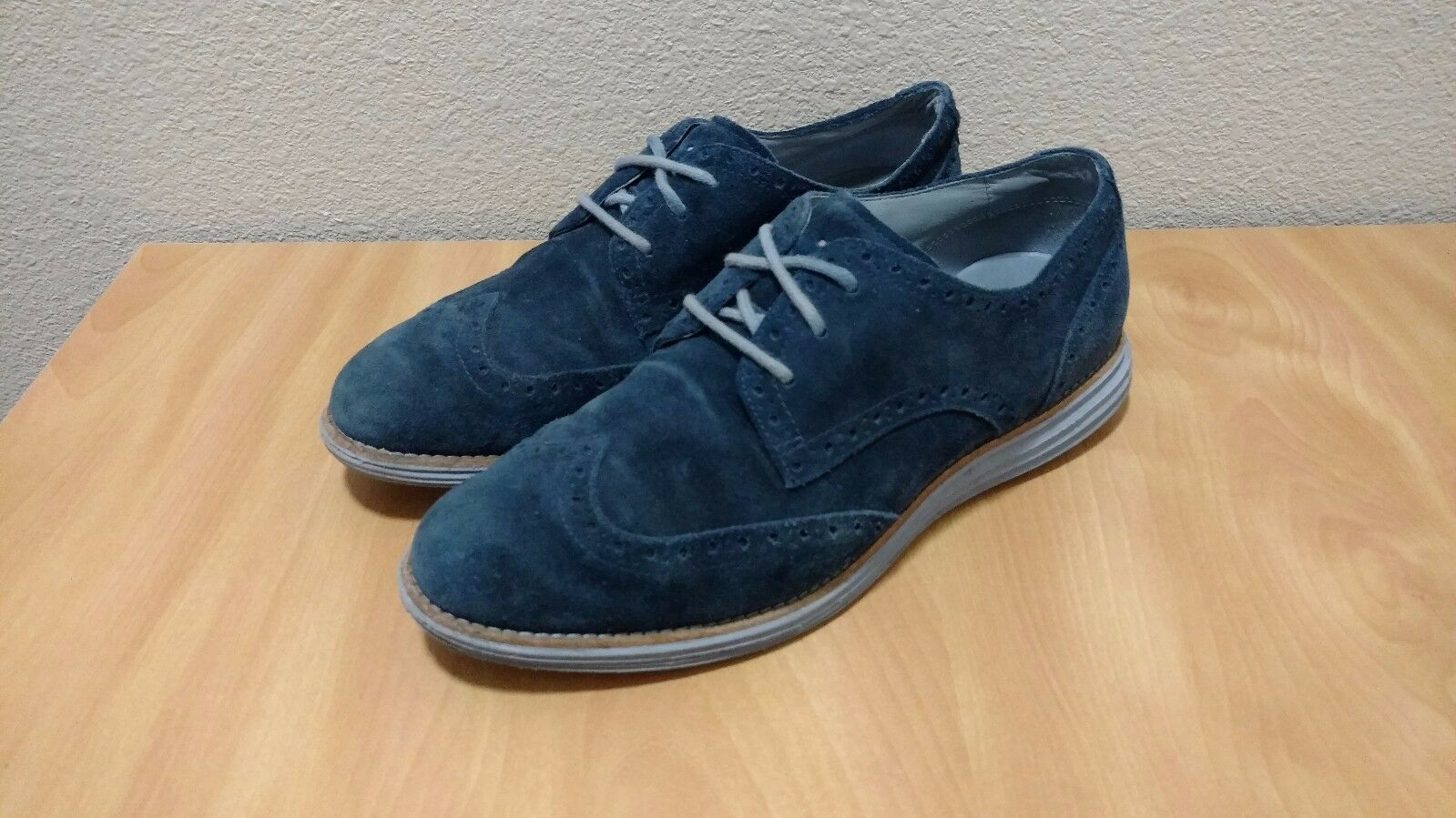 NicE Blazer COLE Haan LUNARGRAND Wingtip Blazer NicE Blau Suede Damenschuhe 8 B OXFORD Free SHIP 43b109