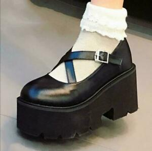lady girls cute wedge platform mary janes pumps shoes
