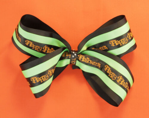 Lime Green Black Fall Hair Girl/'s Bow Trick or Treat Halloween Hair Bow