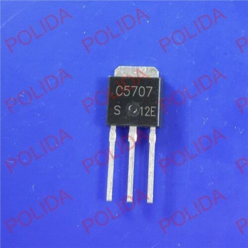 10PCS NPN Transistor SANYO//ON TO-251 2SC5707-E 2SC5707 C5707