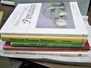 Lot 5 POTTERY PORCELAIN Price Guides Handbooks Manuals Roseville California etc.