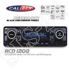 "Caliber RCD120B FM RDS ""Retro Look"" Radio CD MP3 USB SD MMC WMA Autoradio black"