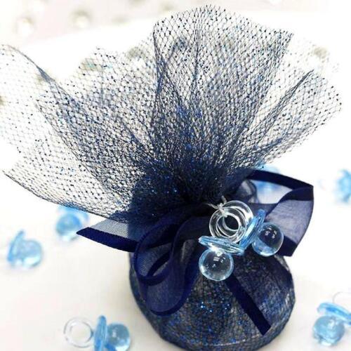 LIGHT BLUE 144 Plastic Mini Baby Pacifiers Party Favors Decorations Supplies