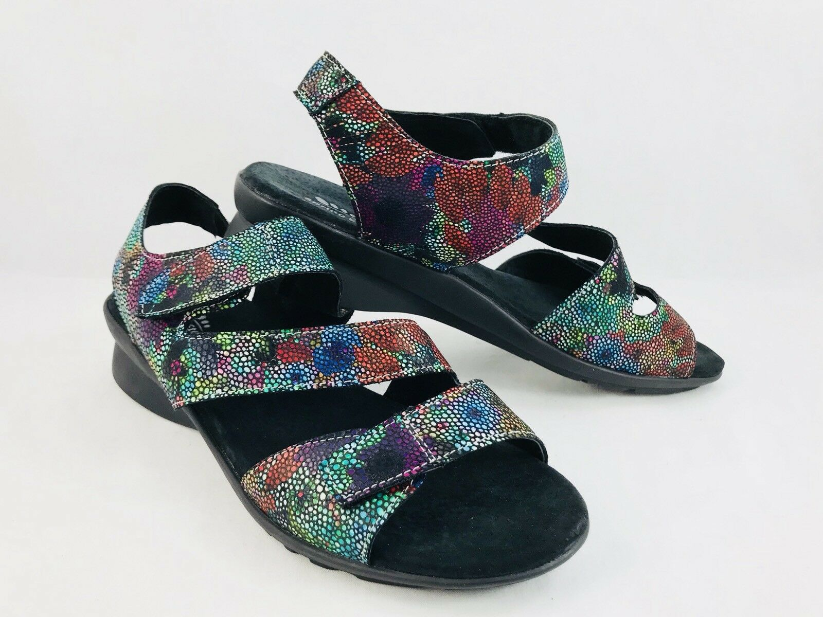 Spring Step Step Step Nadezhda Rainbow Multi-color Strap Sandals Womens Size 39   8.5 ac2c39