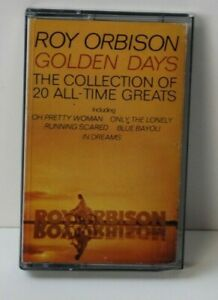 """Roy Orbison Golden Days Music Cassette Tape RARE 20 Hits""""Only The Lonely"""" & More"""