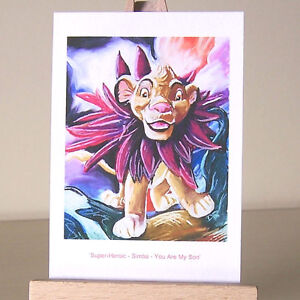 ACEO-WDCC-The-Lion-King-Simba-You-Are-My-Son-drawing