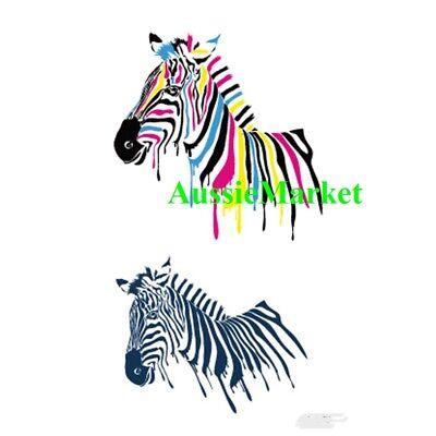 1 X Temporary Tattoo Sticker Sheet Zebra Ladies Girls Mens Body Art Fancy Dress Ebay