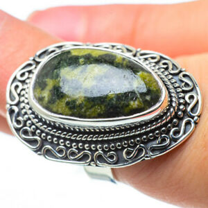 Large Serpentine  925 Sterling Silver Ring Size 7 Ana Co Jewelry R29539F