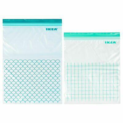 Ikea Istad de plástico ziplock sándwich Congelador bolsas de almacenamiento de alimentos resellable | eBay