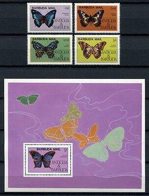 Barbuda 1985 Schmetterlinge Butterflies Papillon Farfalla 806-809 + Block 94 Mnh Easy To Lubricate