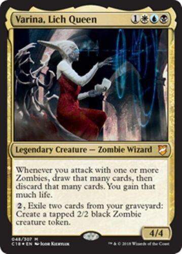 Commander 2018 MTG Gold Creature—Zombie Wizard Mythic VARINA Foil LICH QUEEN