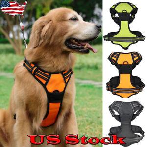 Large Pet Dog Harness Vest Collar Adjustable Soft Collar Walk Out Hand Strap US
