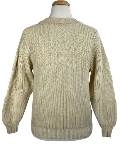 INIS MEAIN mens 100% wool cableknit fisherman swea