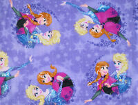 2 Yards X 58 Soft Polar Fleece Disney Frozen Sisters Forever Snow Anna Elsa