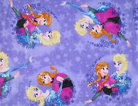 2 Yards X 58 Soft Polar Fleece Disney Frozen Sisters Forever Snow Anna Elsa