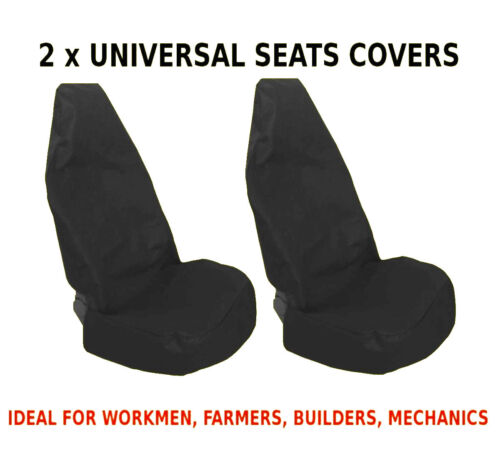 2x CAR FRONT SEAT COVERS PROTECTOR For Fiat 500 500L
