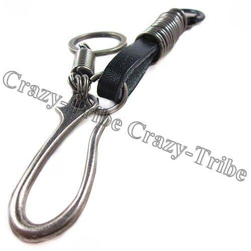 Men/'s Punk Heavy Duty Leather Belt Loop Tool Keeper Holder Key chain ring k135