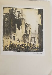 1924.THE ARTIST'S LONDON with two SIGNED prints.Frank Brangwyn W.P.Robins,75/200