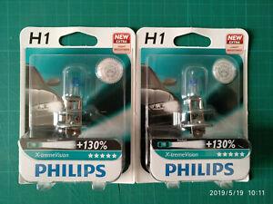 Philips-xtreme-Vision-H1-130-German-Made-1225XV-B1-2-Bulbs