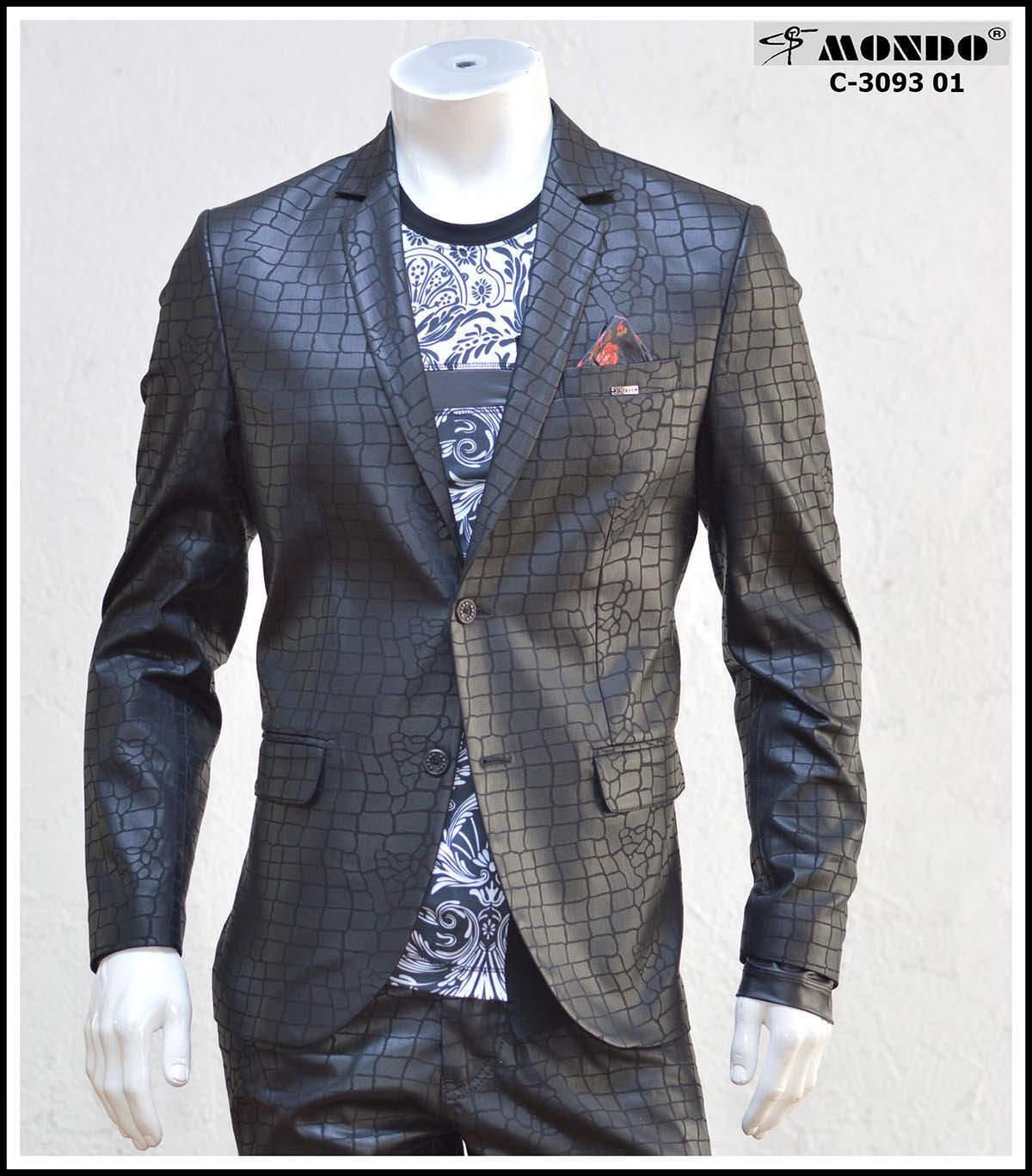 Herren Mode Schwarz Angepasst Blazer Glänzend mit Zwei Knöpfe Schlange von Mondo     New Product 2019    Schönes Design    Gemäßigten Kosten