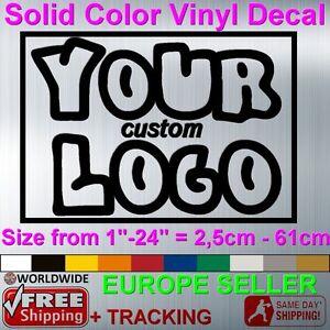 CUSTOM MADE VINYL STICKER DECAL FAMOUS BRAND BUSINESS LOGO WALL - Custom vinyl decal text