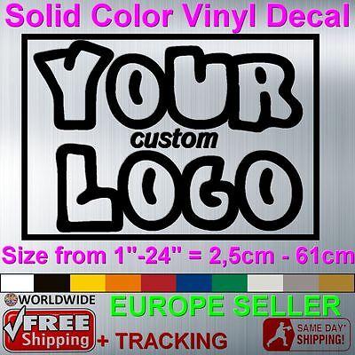 CUSTOM COMPANY LOGO Vinyl Decal Sticker Car