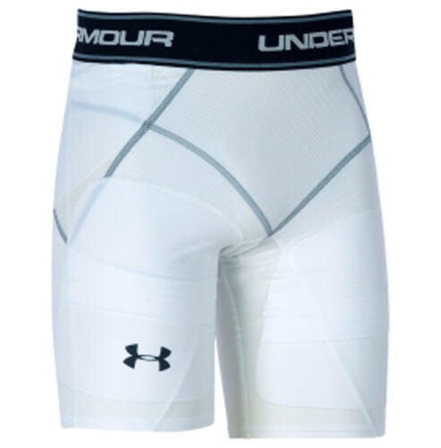 Under Armour Men/'s White Coreshort Reverse Compression Football Girdle Sz S **