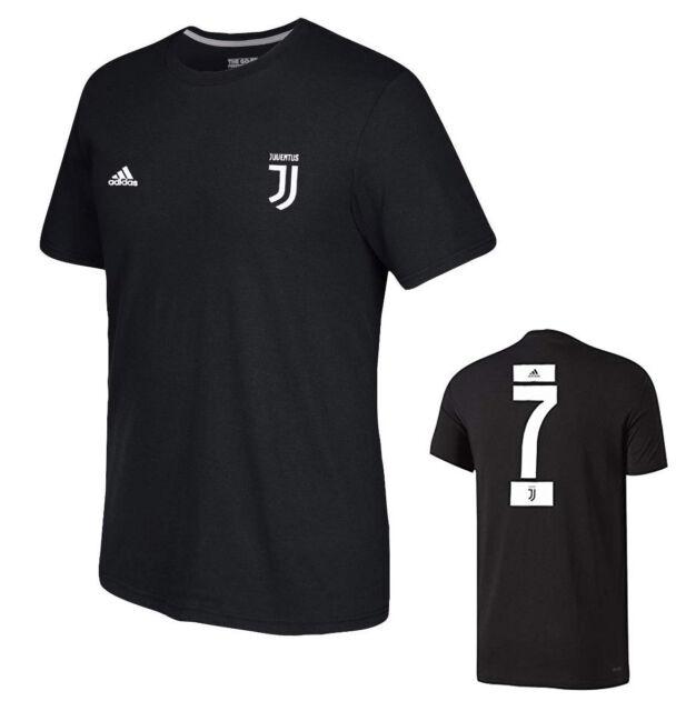 online retailer c7c61 9c7db adidas Cristiano Ronaldo JUVENTUS Black Player Name & Number Tee Adult XXL