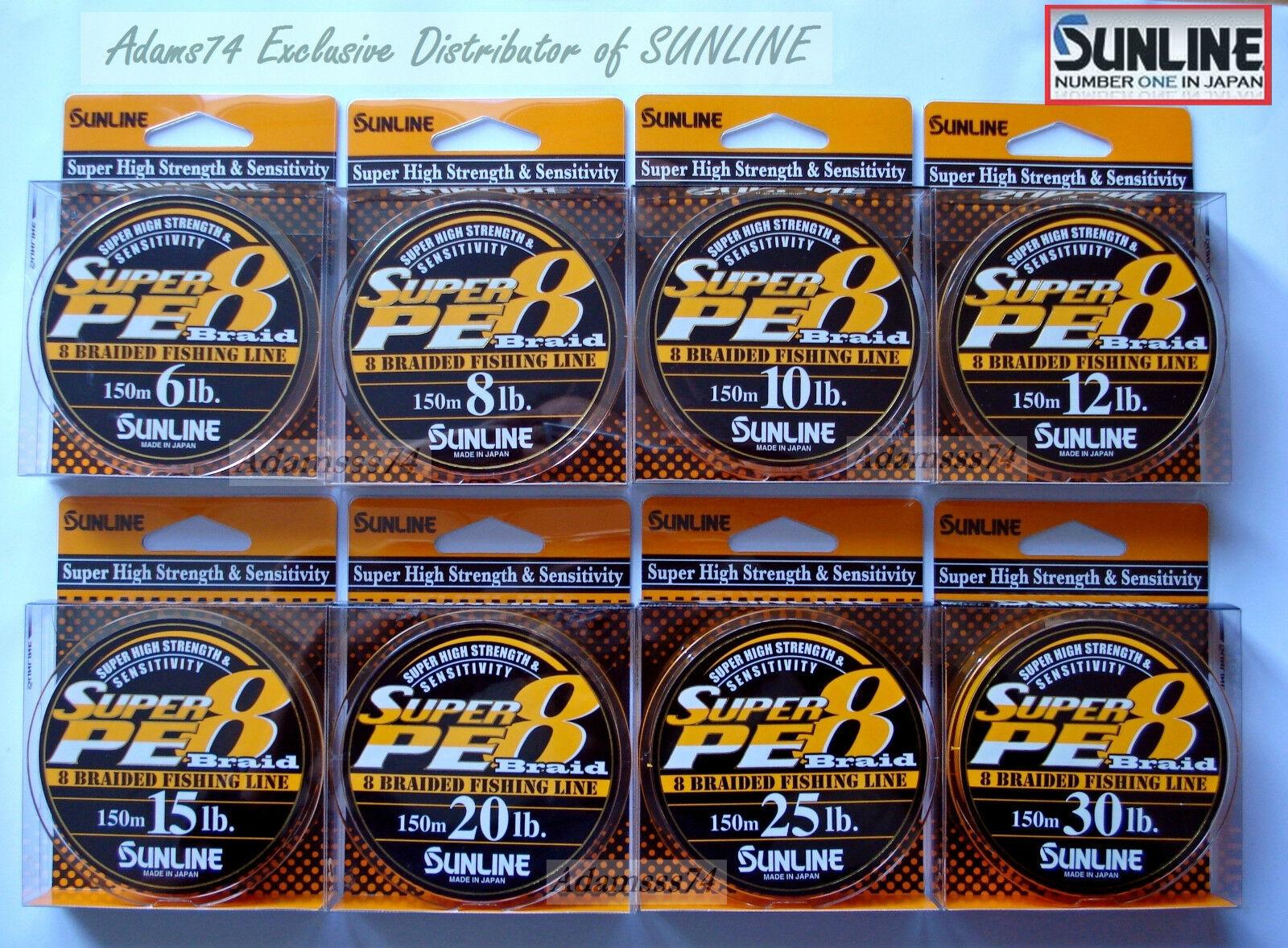 Sunline Super Pe 8 Braid-150m.8 Strang Geflochtene Super Höhe Stärke Angelschnur