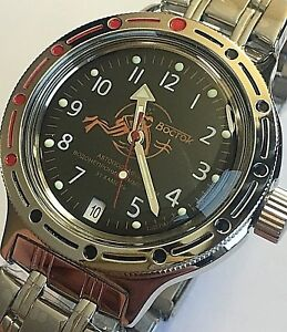 Détails sur VOSTOK AMPHIBIAN RUSSIAN DIVER WATCH AUTOMATIC 200 m #420380 NEW