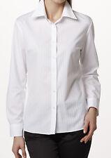 item 4 Women s Easy Care White Dobby Long Sleeve Shirt Stripe Square Twill  Pattern -Women s Easy Care White Dobby Long Sleeve Shirt Stripe Square  Twill ... 51646369e