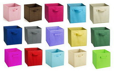LARGE FABRIC COLLAPSIBLE CONTAINER CUBE closet organizer Storage closet bin
