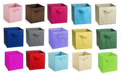 LARGE FABRIC COLLAPSIBLE CONTAINER CUBE closet organizer Storage closet bin