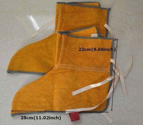 Short Leather Welding Shoe Spats Protectors Welder Working Tool