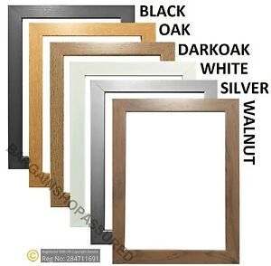 Details About Picture Photo Frame Large Maxi Poster Frames Black White Oak Wood Effect