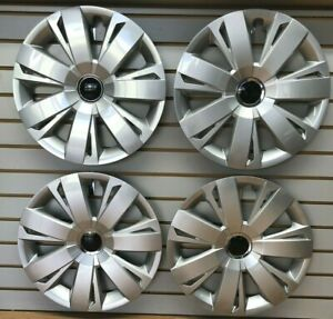 NEW-SET-16-034-Silver-Hubcaps-Wheelcovers-for-VW-JETTA-GOLF-RABBIT-Steel-Wheels