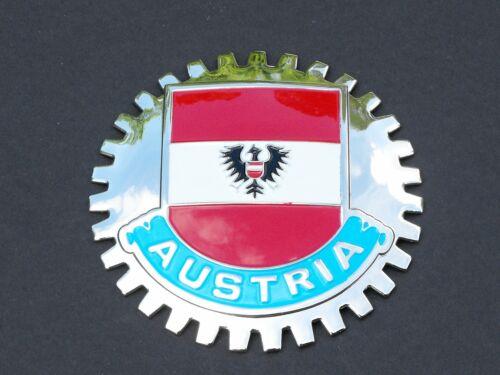 AUSTRIAN FLAG FLAG OF AUSTRIA CAR GRILLE BADGE EMBLEM